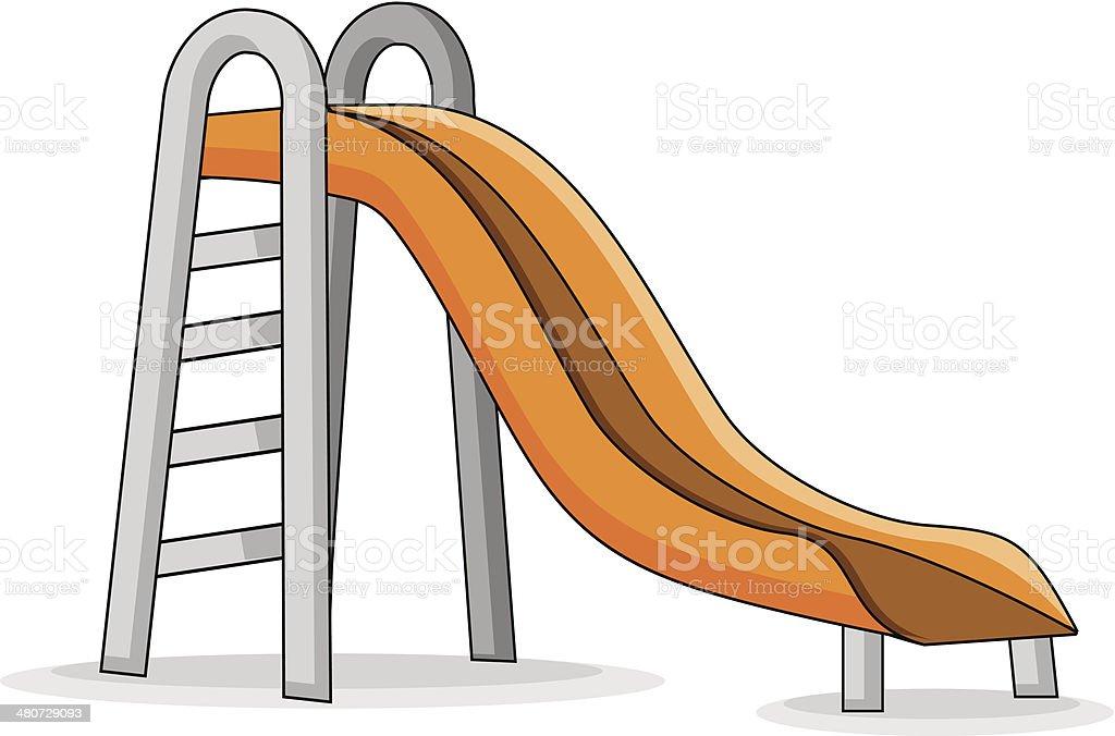 Slide vector art illustration