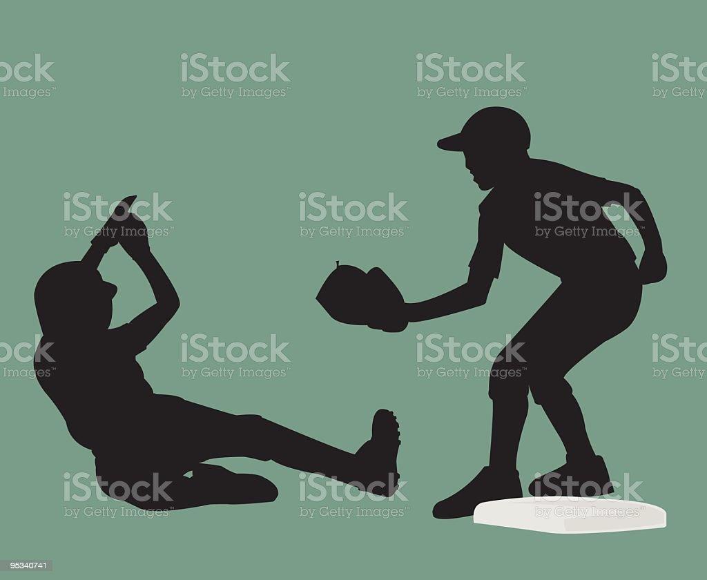 Sliding vector art illustration