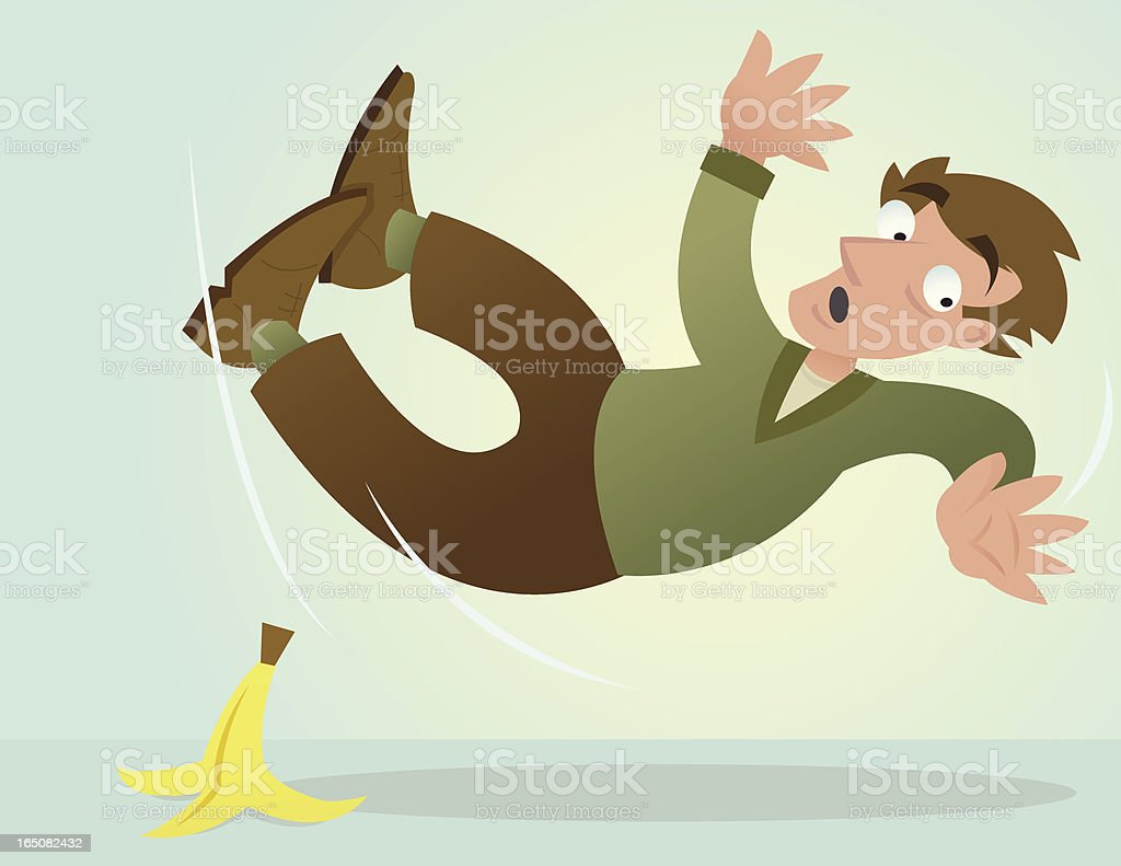 Slip and Fall royalty-free stock vector art