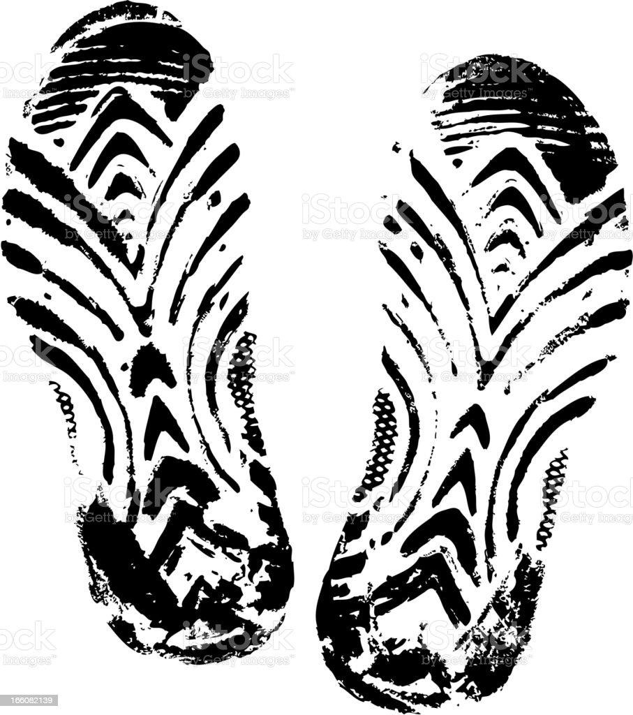 slipper print royalty-free stock vector art