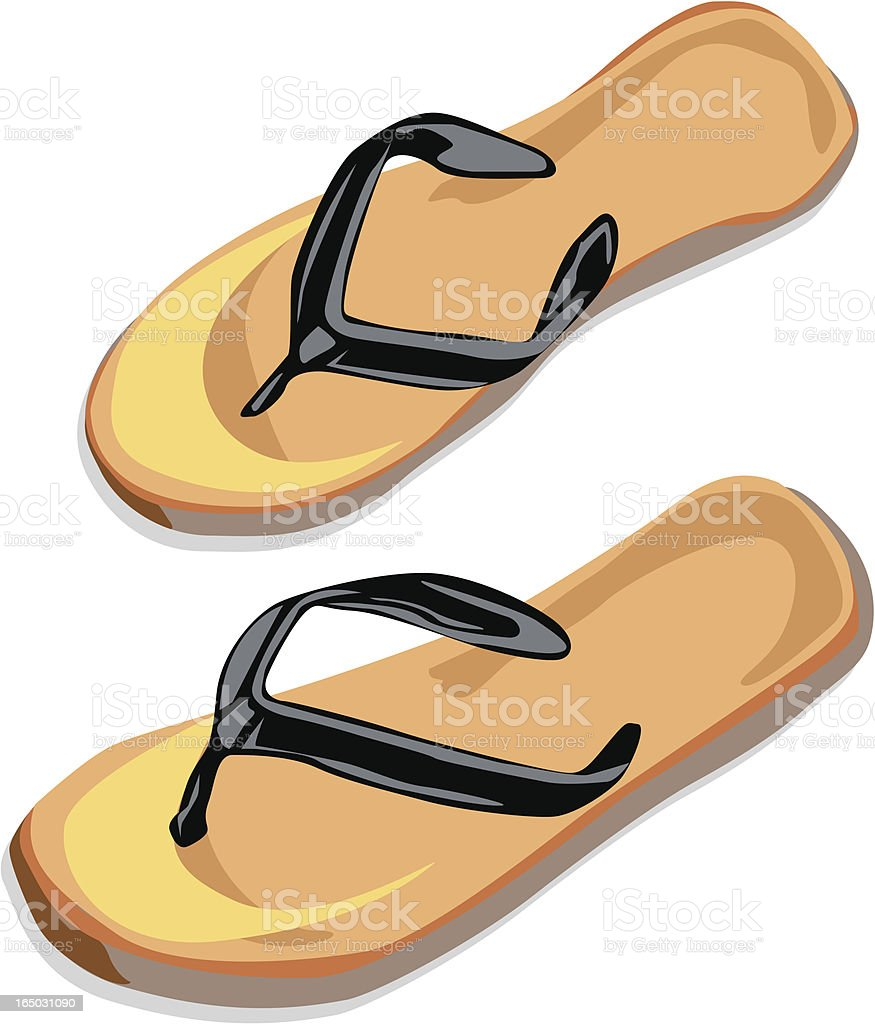 Slippers vector art illustration