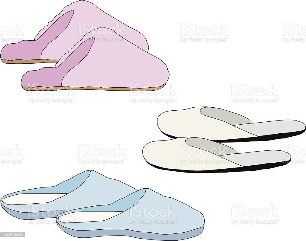 Slippers vector art illustration