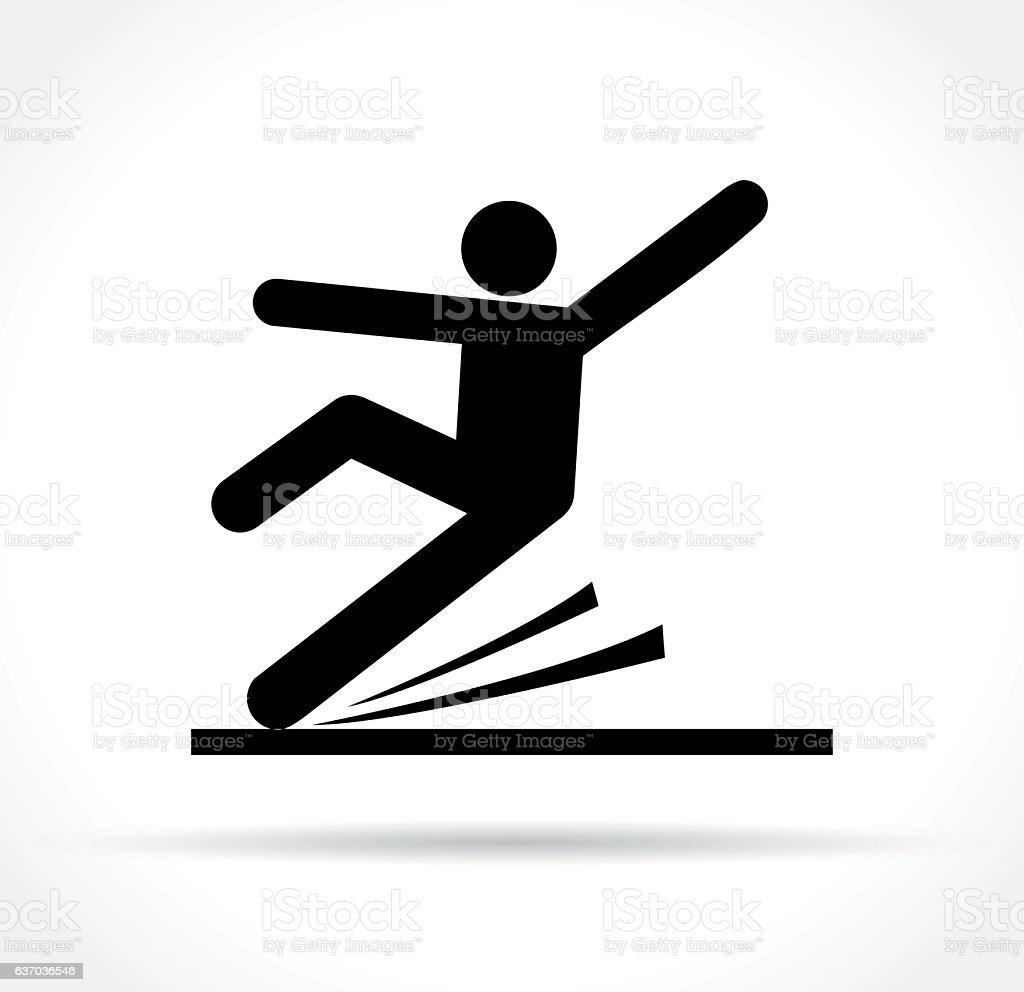 slippery floor icon vector art illustration
