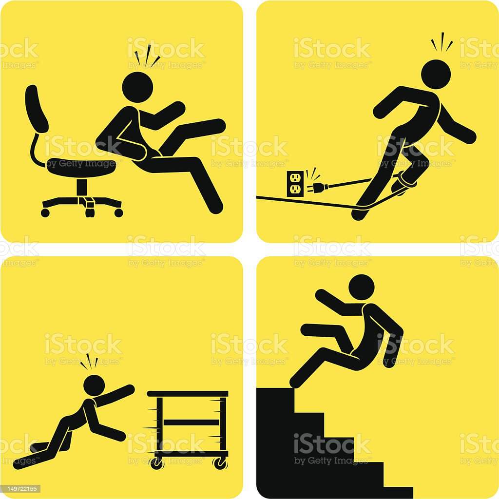 Slips, Trips & Falls 2 vector art illustration