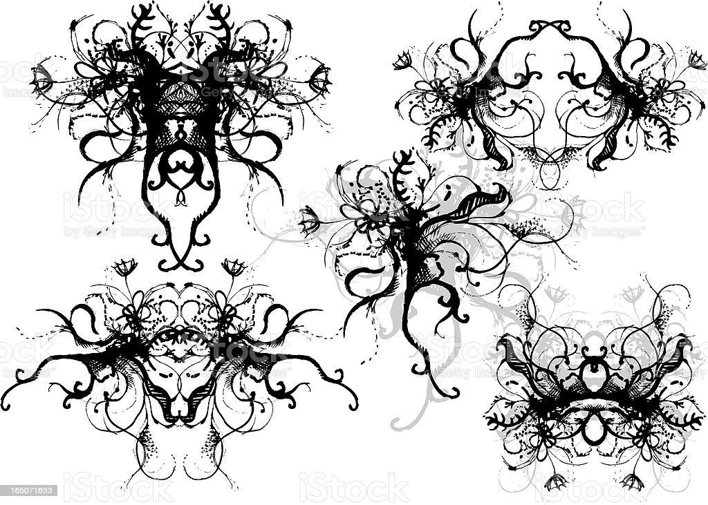 schlampige Blumenstrauß Lizenzfreies vektor illustration