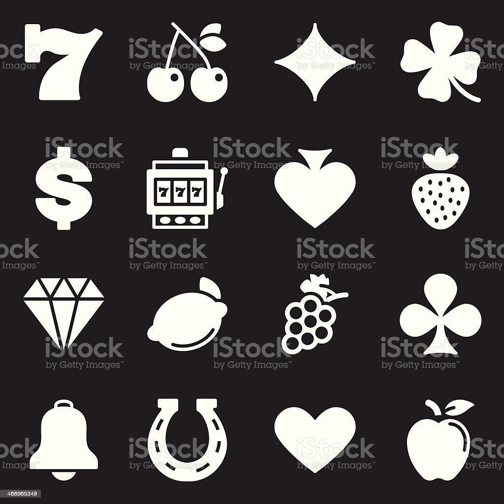 Slot Machine Icons  | White Series royalty-free stock vector art