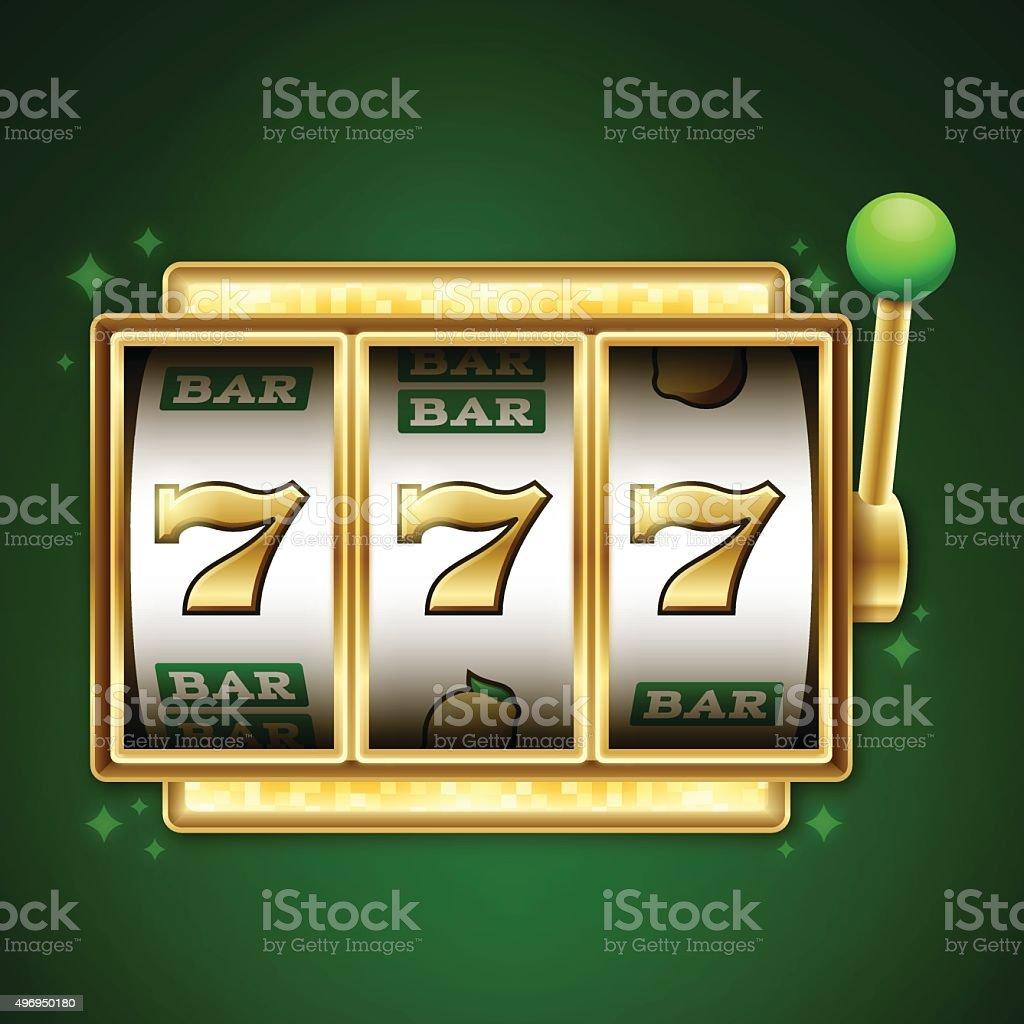 Slot Machine Jackpot vector art illustration