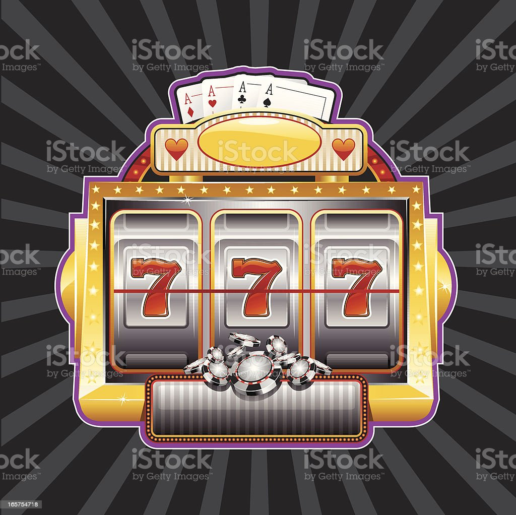 slot machine sign vector art illustration