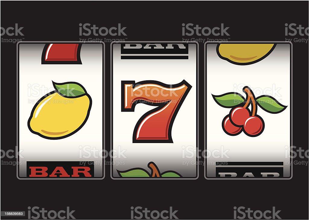 Slot Machine symbols vector art illustration