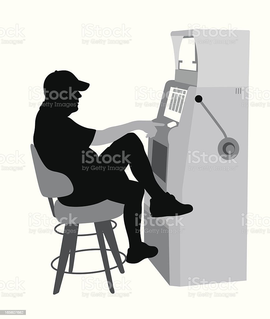 Slot Machine Tunes Vector Silhouette royalty-free stock vector art