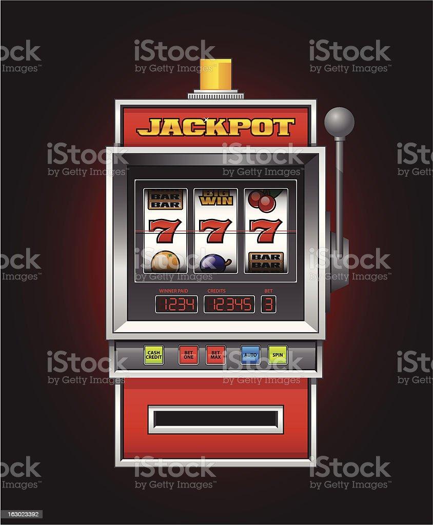 Slot machine vector art illustration