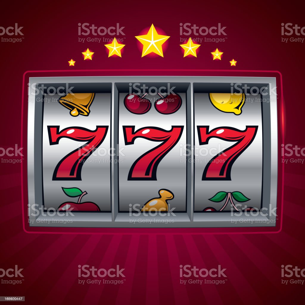 Slot machine royalty-free stock vector art