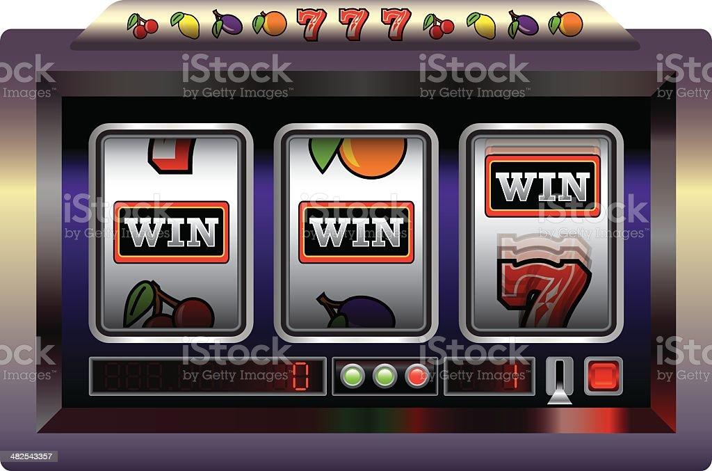 Slot Machine Win vector art illustration