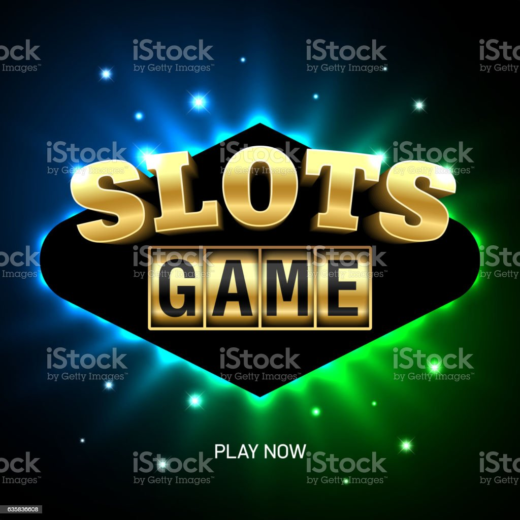 Slots game casino banner vector art illustration