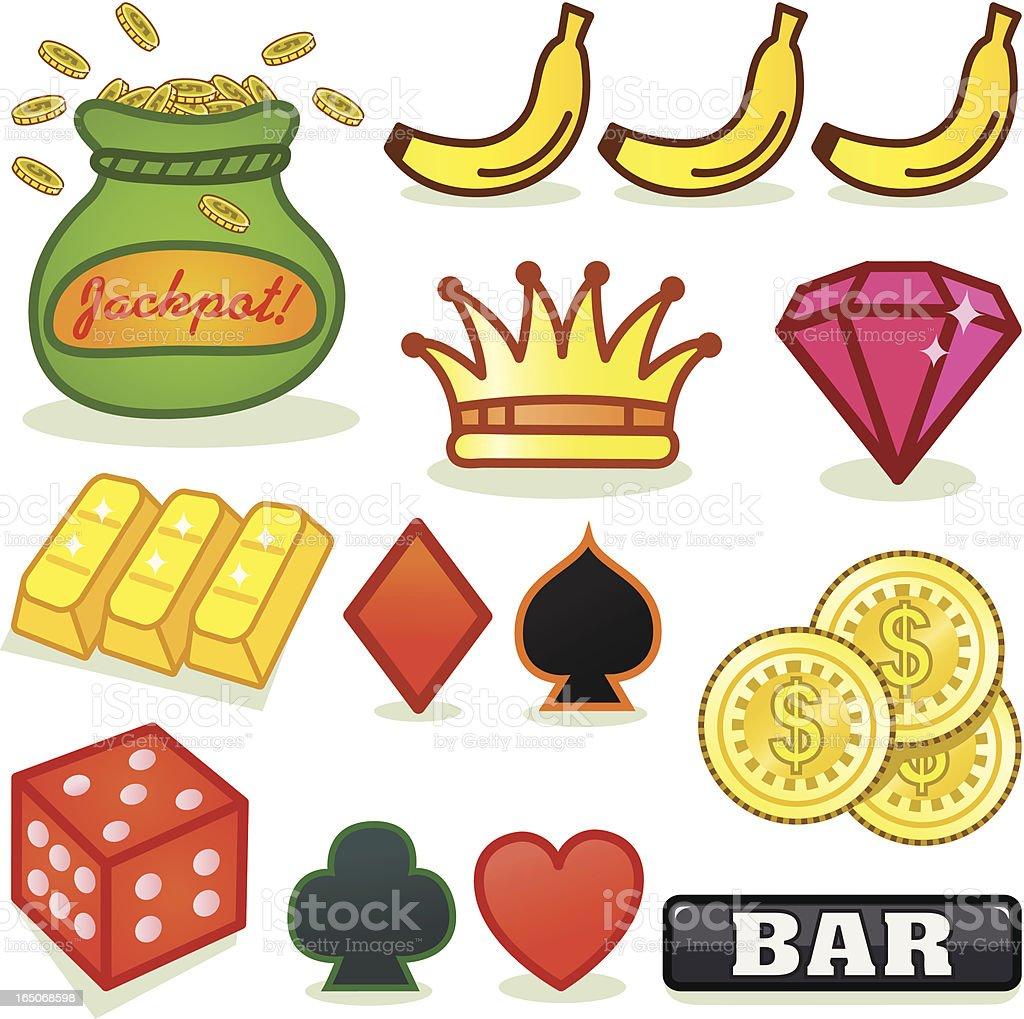 Slots Symbols 2 royalty-free stock vector art