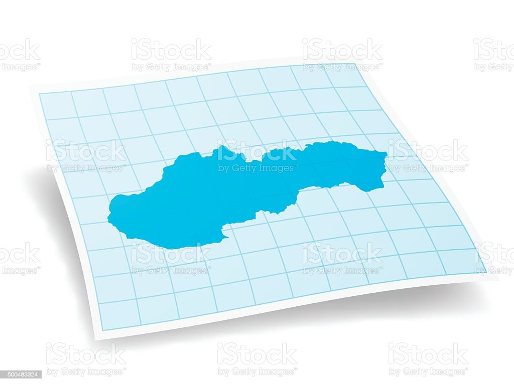 Slovakia Map isolated on white Background vector art illustration