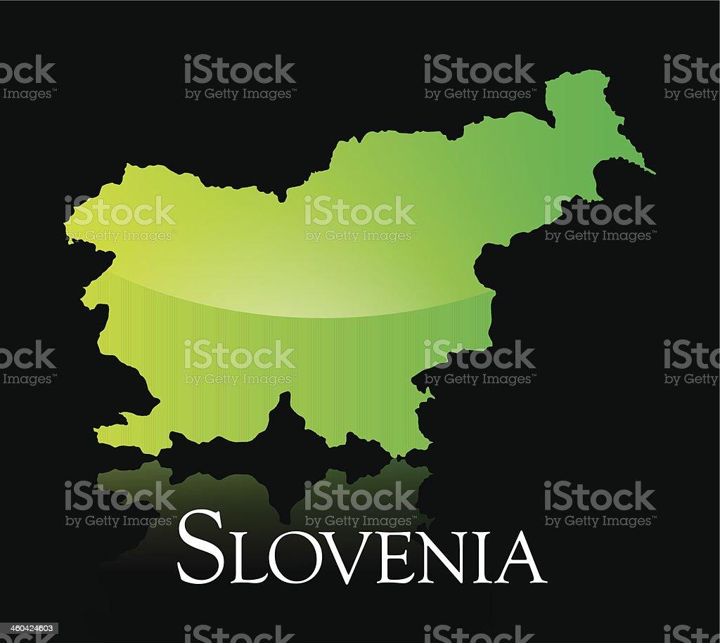Slovenia green shiny map royalty-free stock vector art