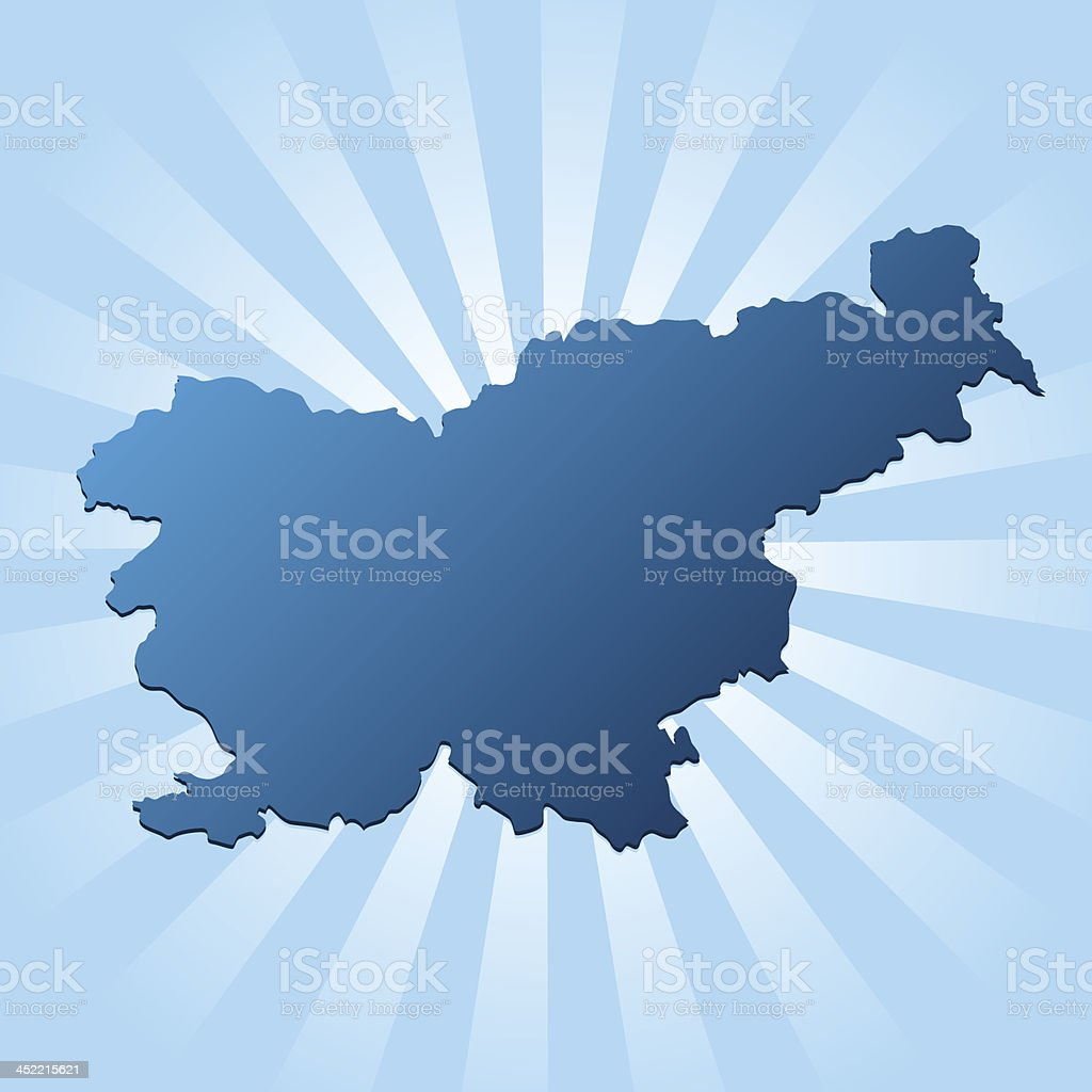 Slovenia map blue royalty-free stock vector art