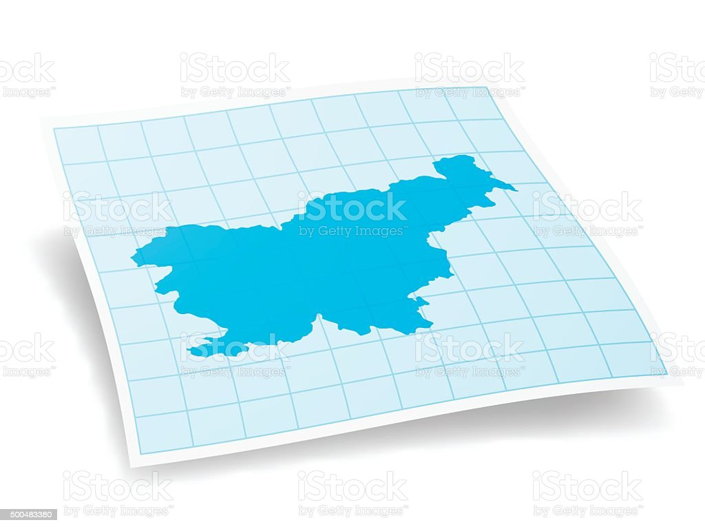 Slovenia Map isolated on white Background vector art illustration