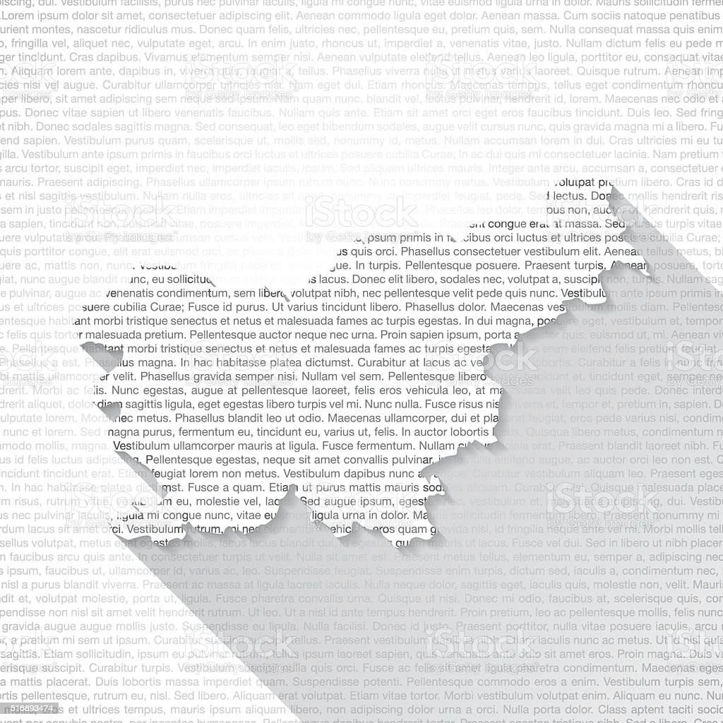 Slovenia Map on Text Background - Long Shadow vector art illustration