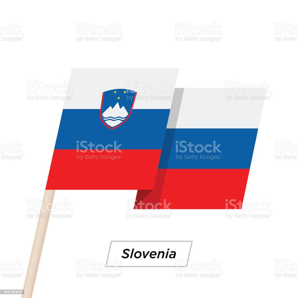 Slovenia Ribbon Waving Flag Isolated on White. Vector Illustration. vector art illustration