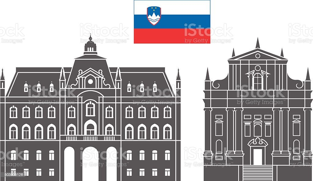 Slovenia vector art illustration