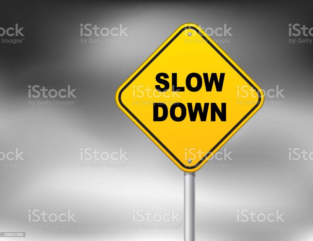 Slow down vector art illustration