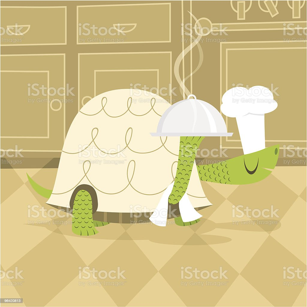 Slowly chef for slow food concept royalty-free stock vector art