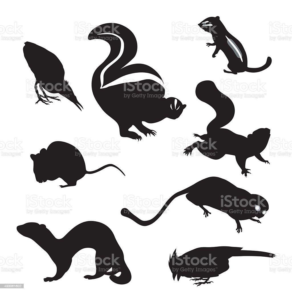 Small Animals vector art illustration