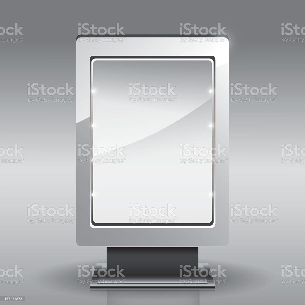 Petit panneau d'affichage stock vecteur libres de droits libre de droits