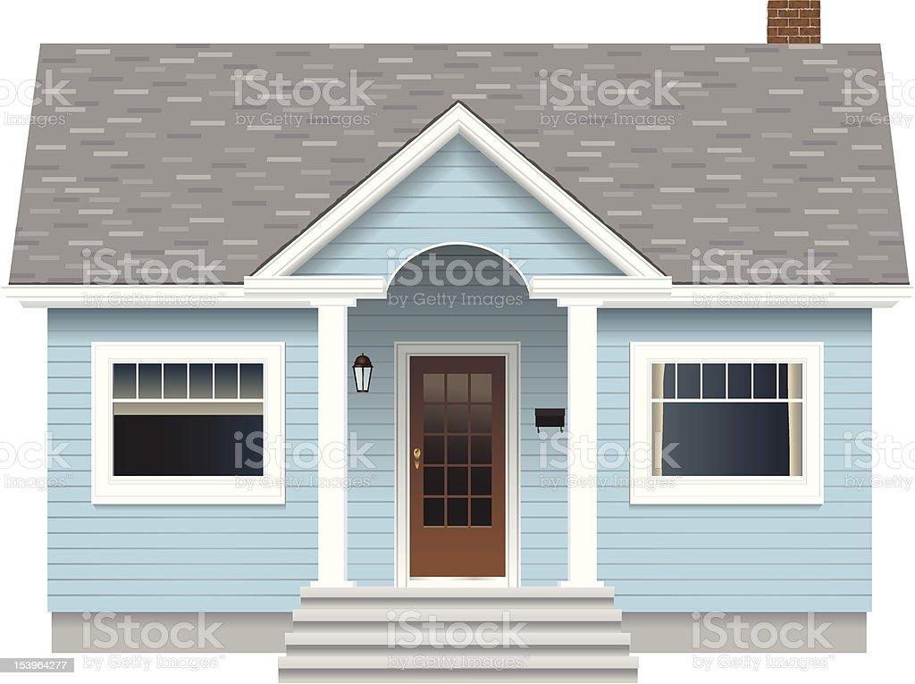 Small Blue House vector art illustration