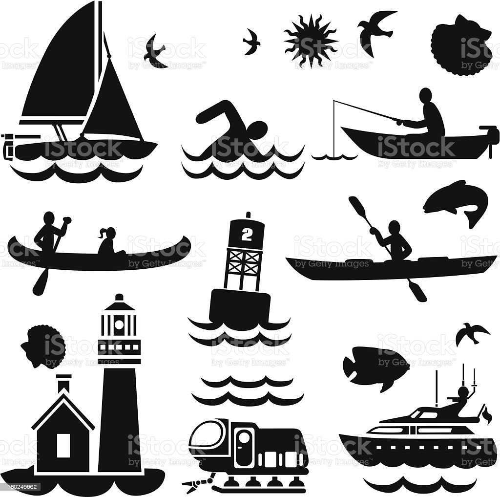 small boats and watercraft royalty-free stock vector art