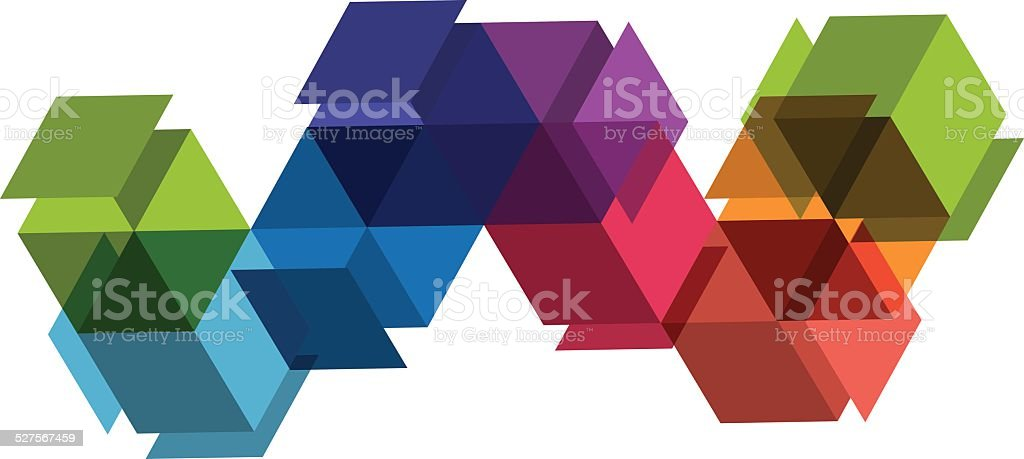 small boxes vector art illustration