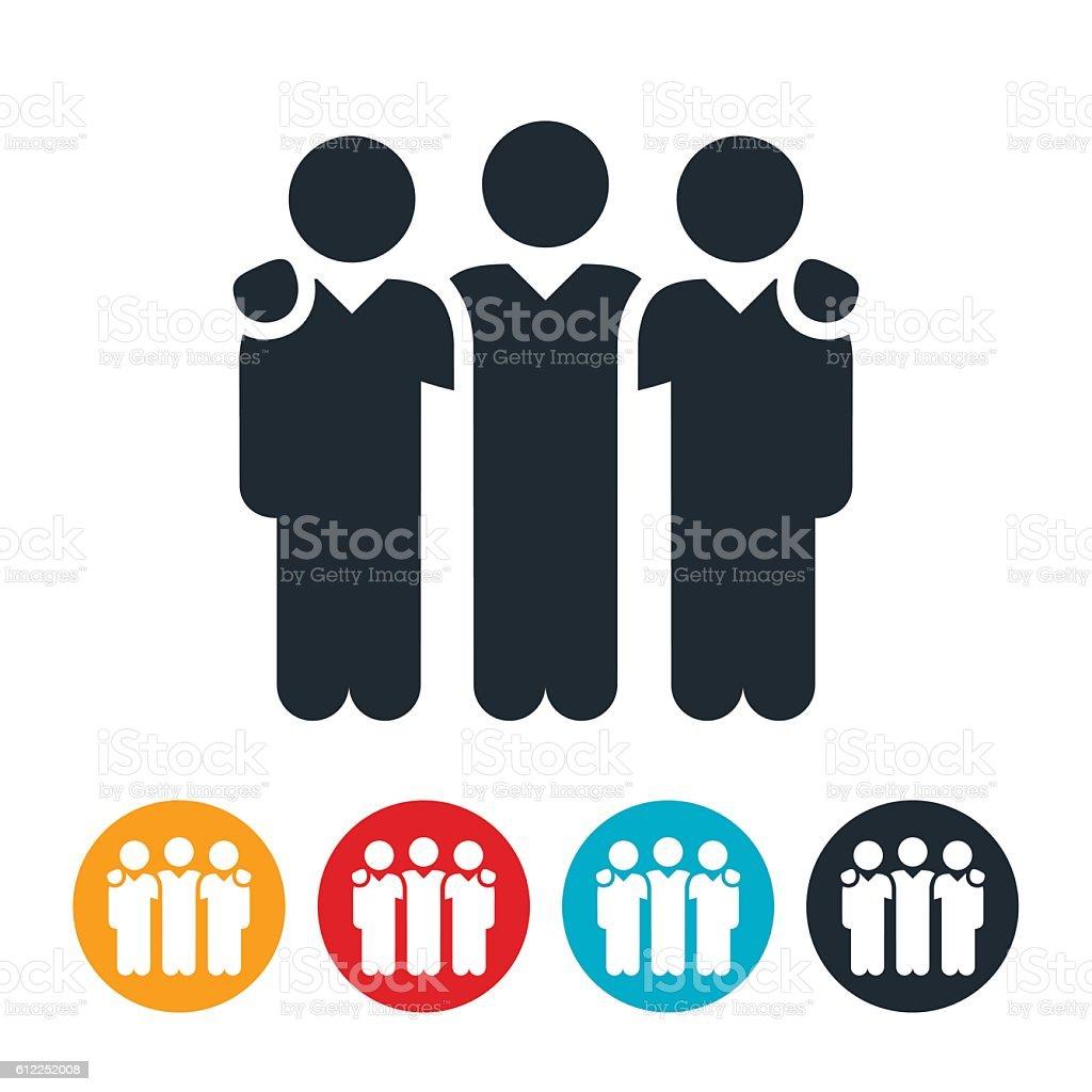 Small Business Team Icon vector art illustration