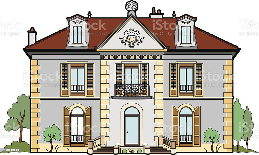 Small castle royalty-free stock vector art
