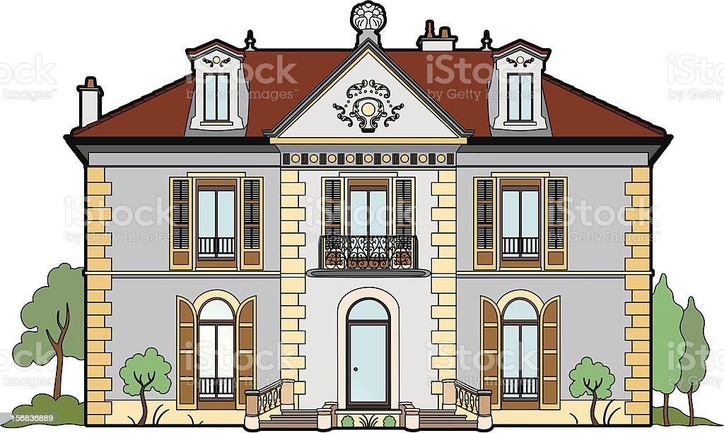 Small castle vector art illustration