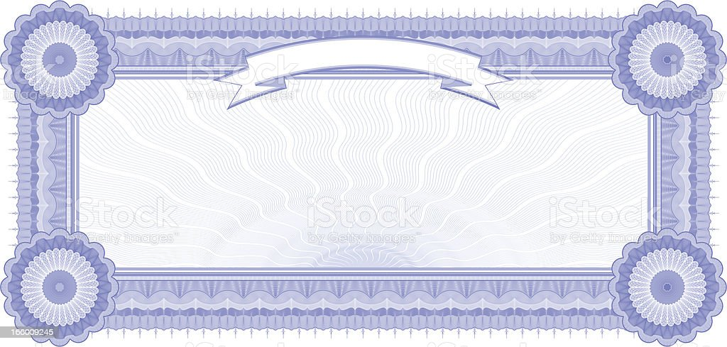 Small Certificate - Coupon (BLUE VARIANT) vector art illustration