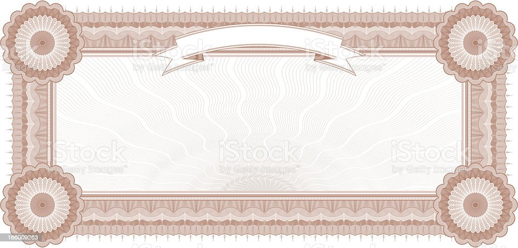 Small Certificate - Coupon (RUST VARIANT) royalty-free stock vector art