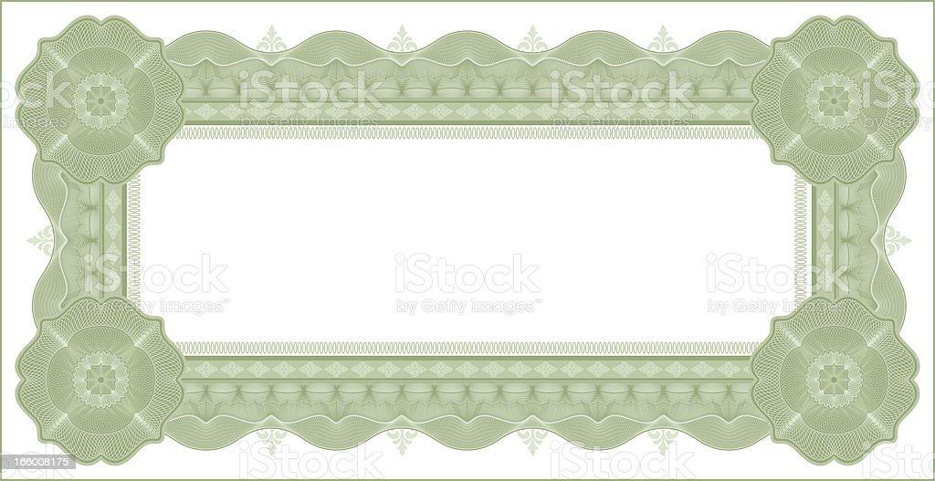 Small Certificate - Diploma (GREEN VARIANT) vector art illustration