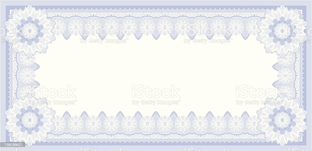 Small Certificate or Coupon royalty-free stock vector art