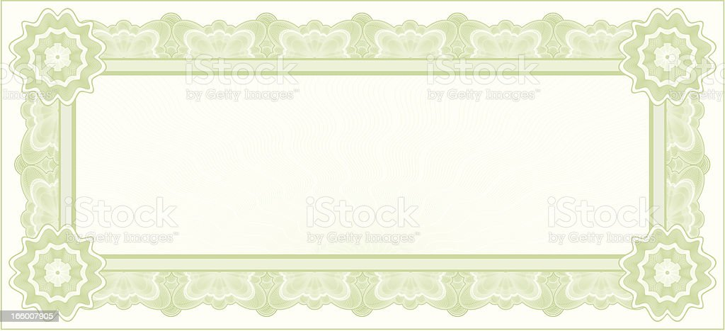 Small Certificate or Coupon (GREEN VARIANT) royalty-free stock vector art