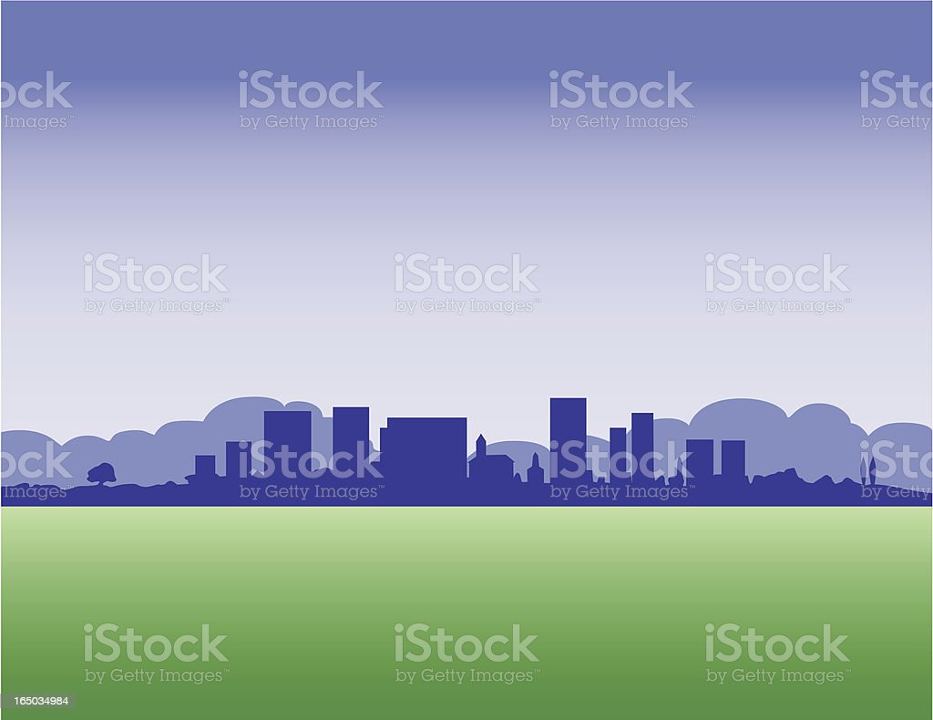 small city view royalty-free stock vector art