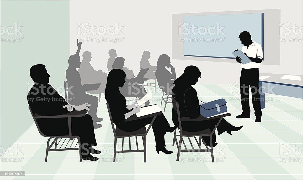 Small classroom vector art illustration