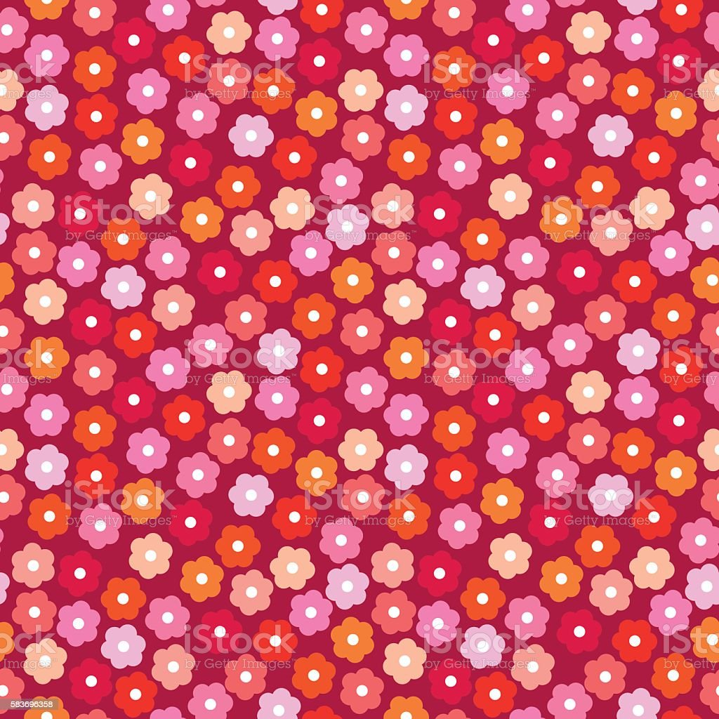 Small daisies background vector art illustration