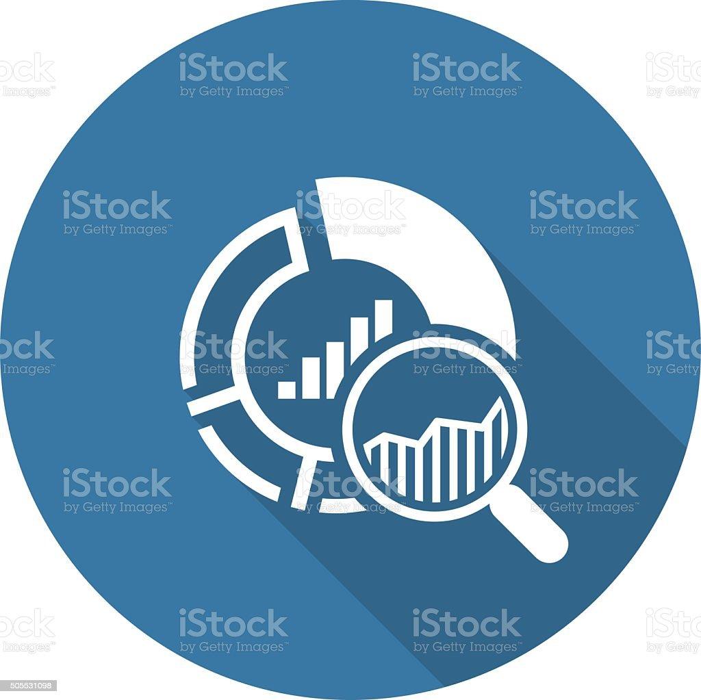 Small Data Icon. Flat Design. vector art illustration