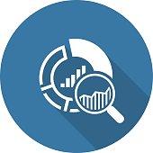 Small Data Icon. Flat Design.