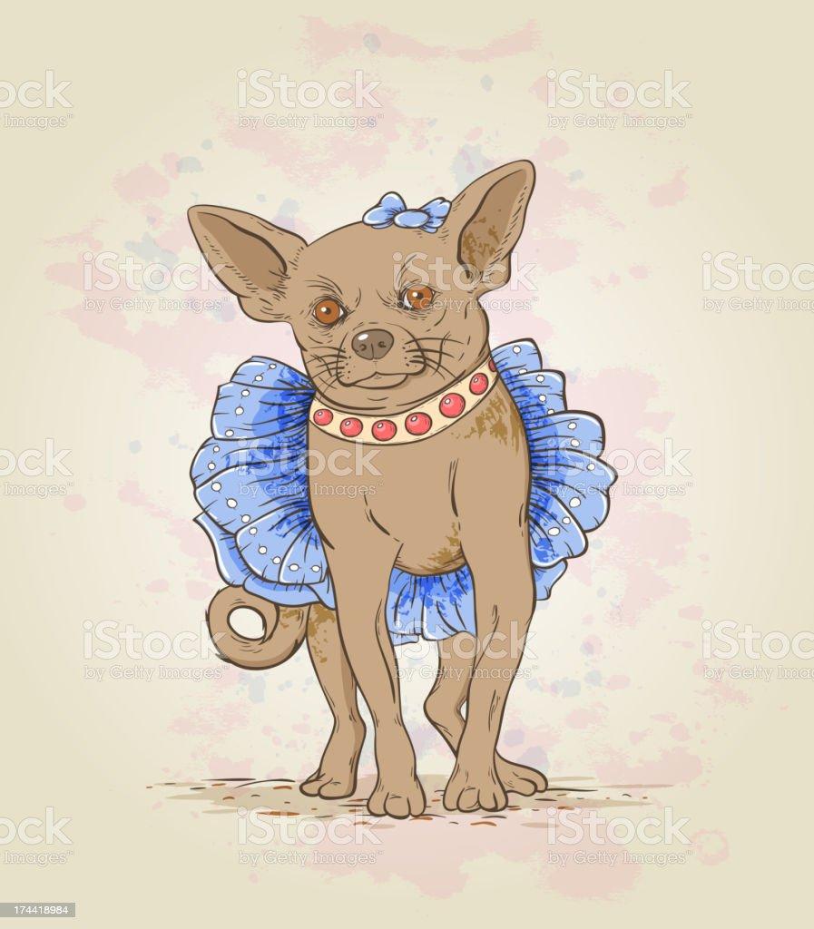 Small decorative dog royalty-free stock vector art