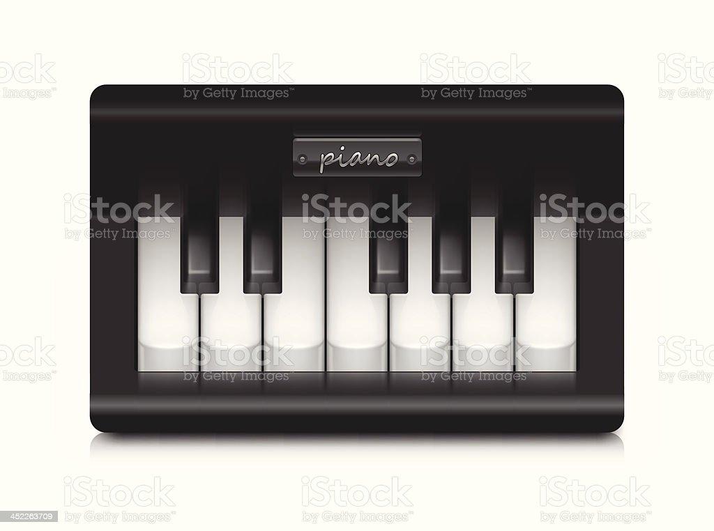 Small fancy piano royalty-free stock vector art