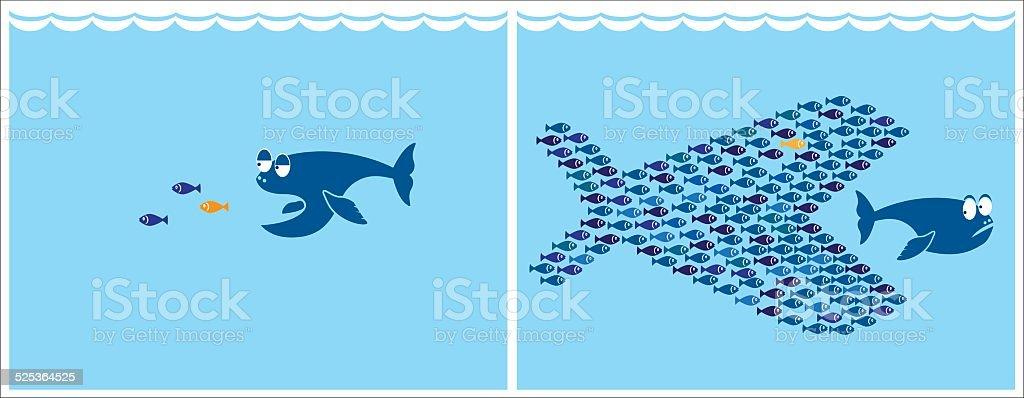 small fish vector art illustration