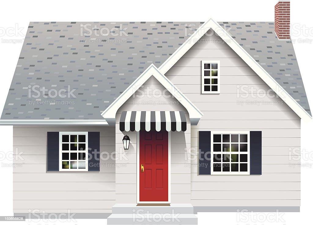 Small Gray House vector art illustration